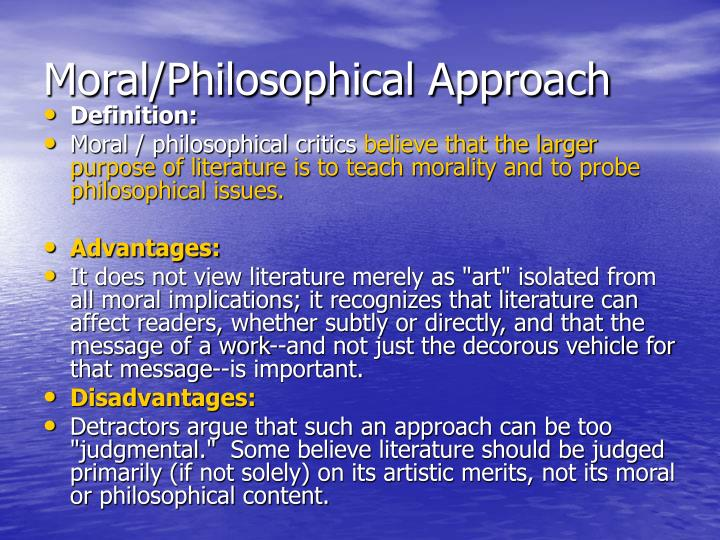 moral philosophy principal issues Summary of kantian ethics  our duty is to obey the moral law one statement of the categorical imperative is the principle of universalizability.