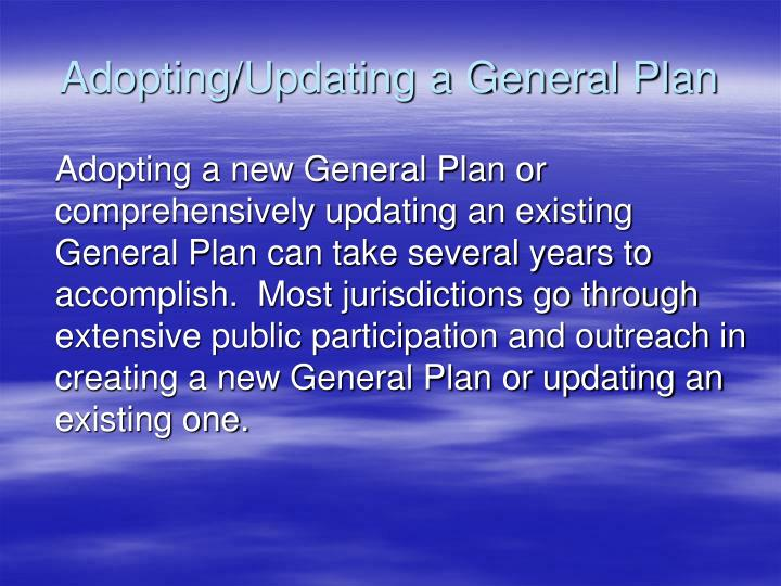 Adopting/Updating a General Plan