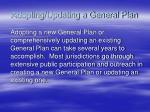 adopting updating a general plan