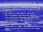 commissions advisory bodies