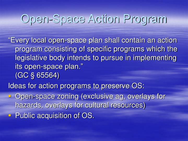 Open-Space Action Program