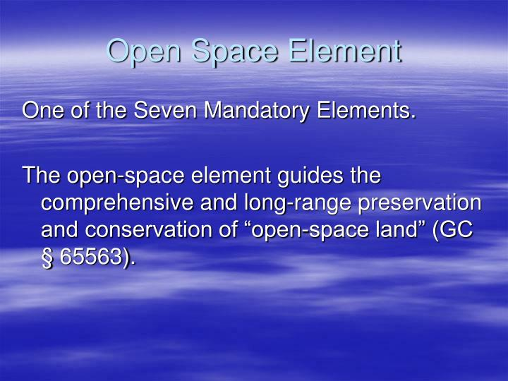 Open Space Element