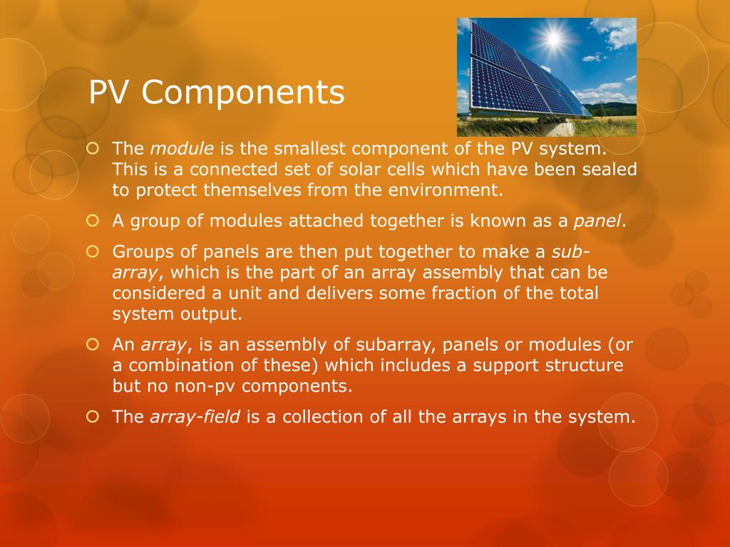 PV Components