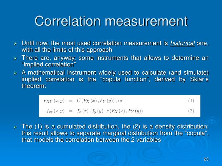 Correlation measurement