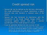 credit spread risk