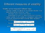 different measures of volatility