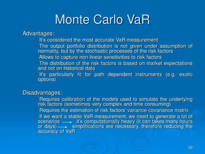 Monte Carlo VaR