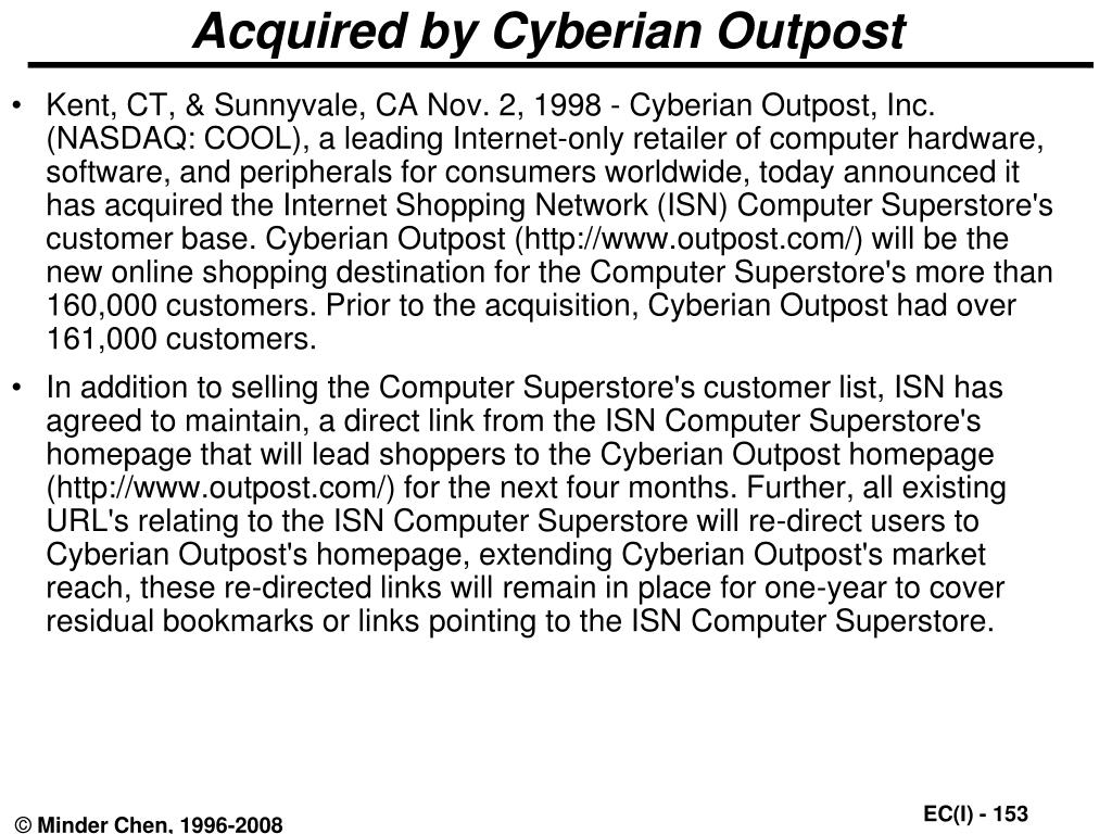 Acquired by Cyberian Outpost