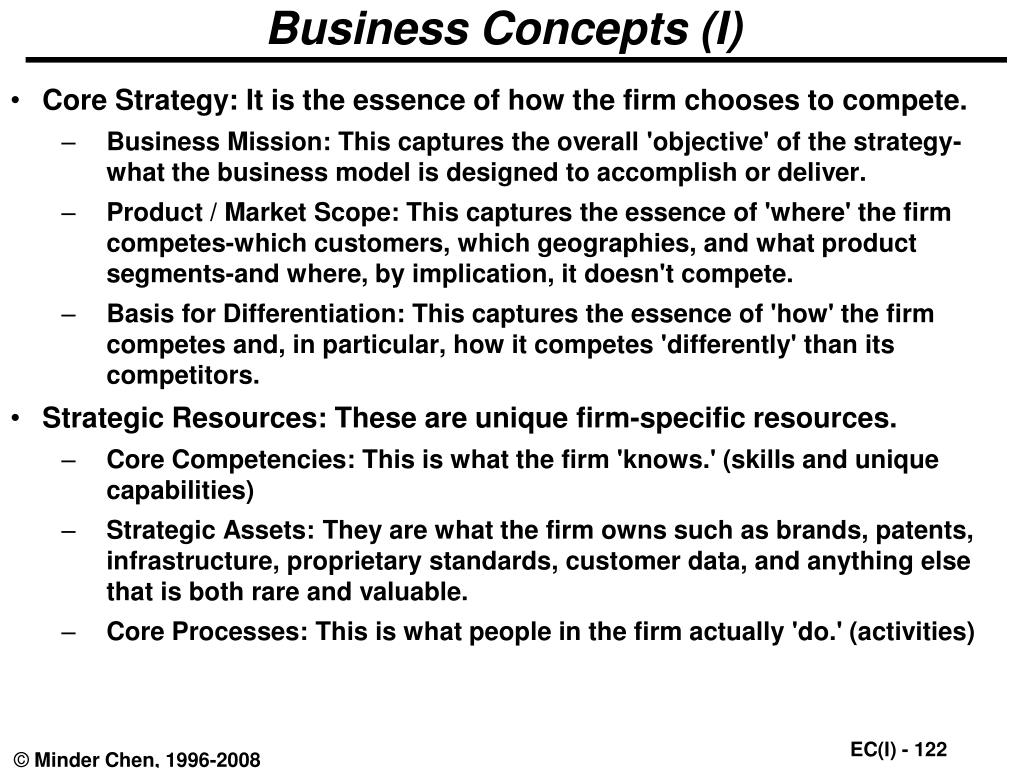 Business Concepts (I)