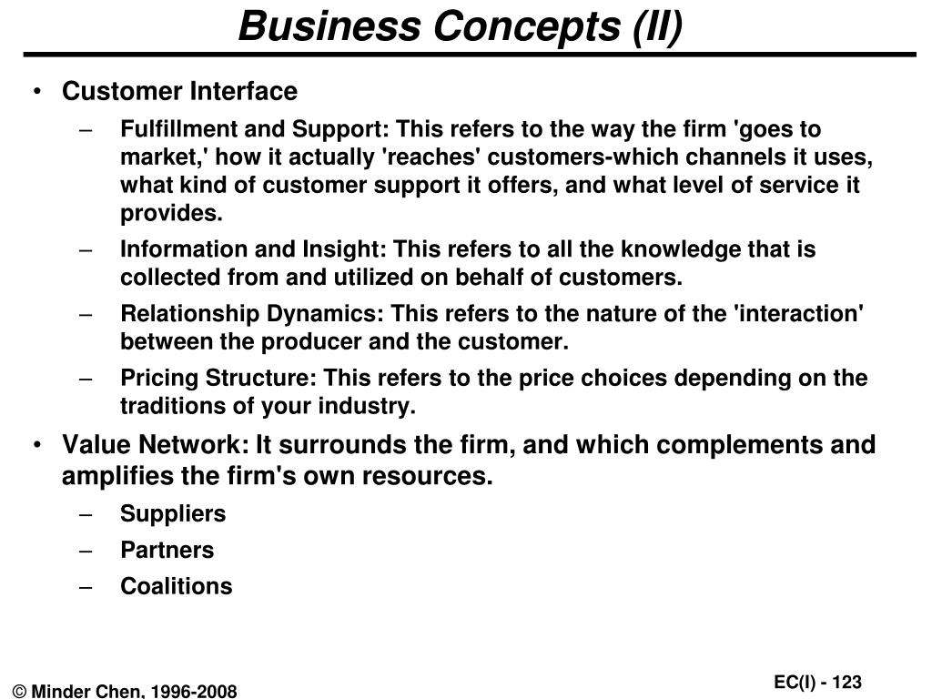 Business Concepts (II)