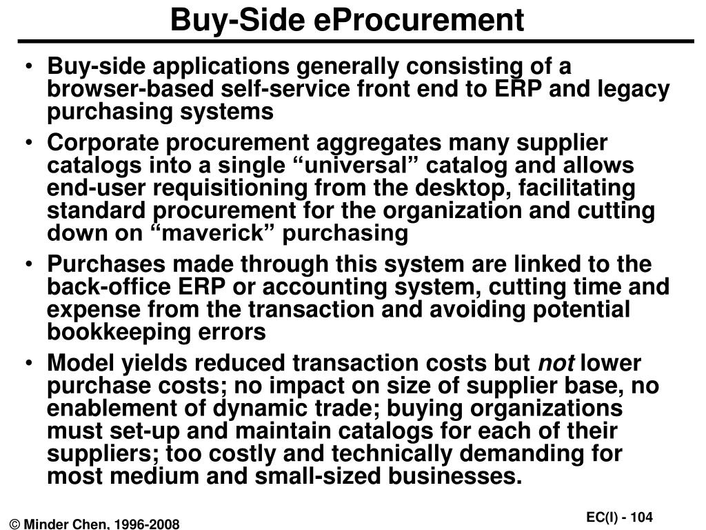 Buy-Side eProcurement