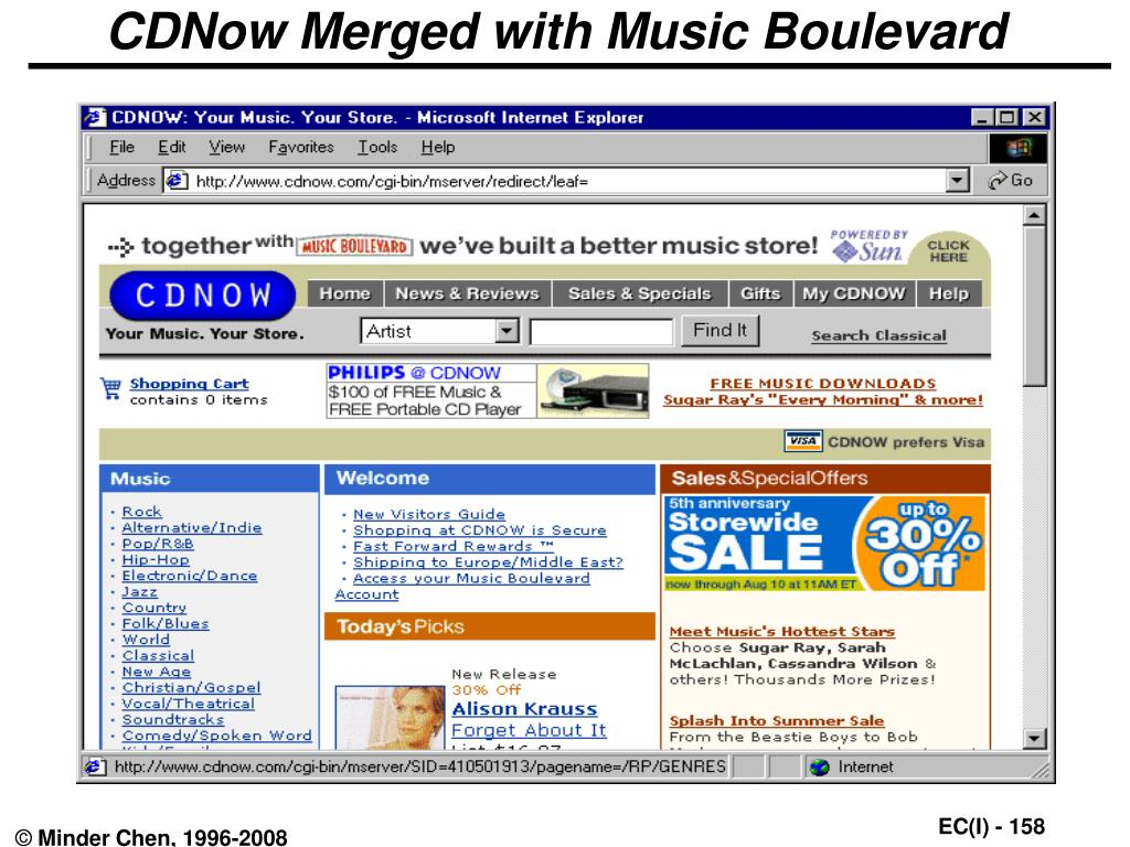 CDNow Merged with Music Boulevard