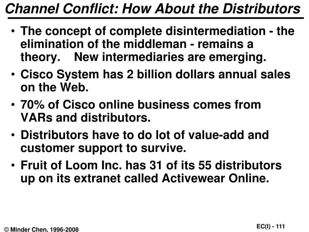 Channel Conflict: How About the Distributors