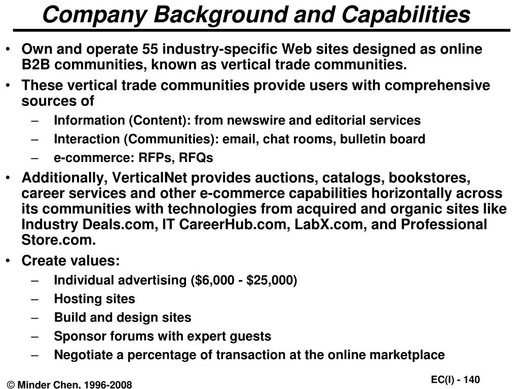 Company Background and Capabilities
