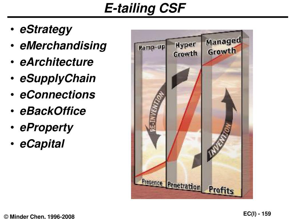 E-tailing CSF