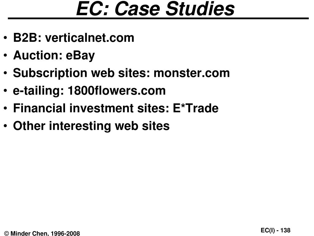 EC: Case Studies