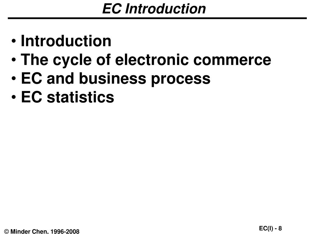 EC Introduction