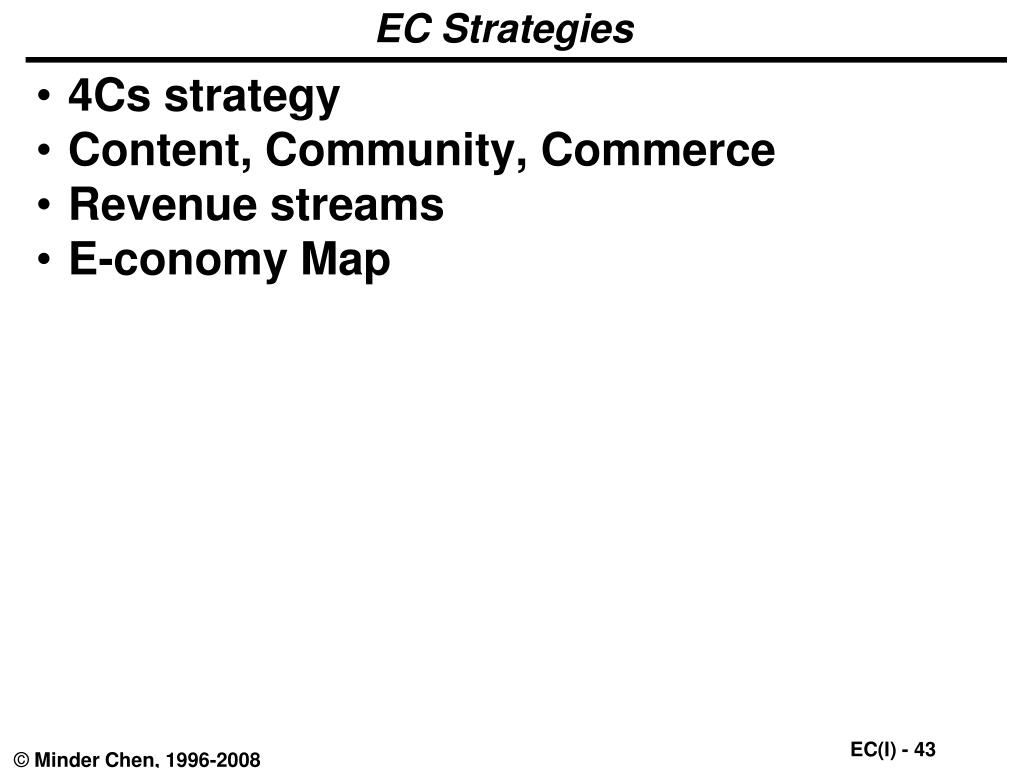 EC Strategies