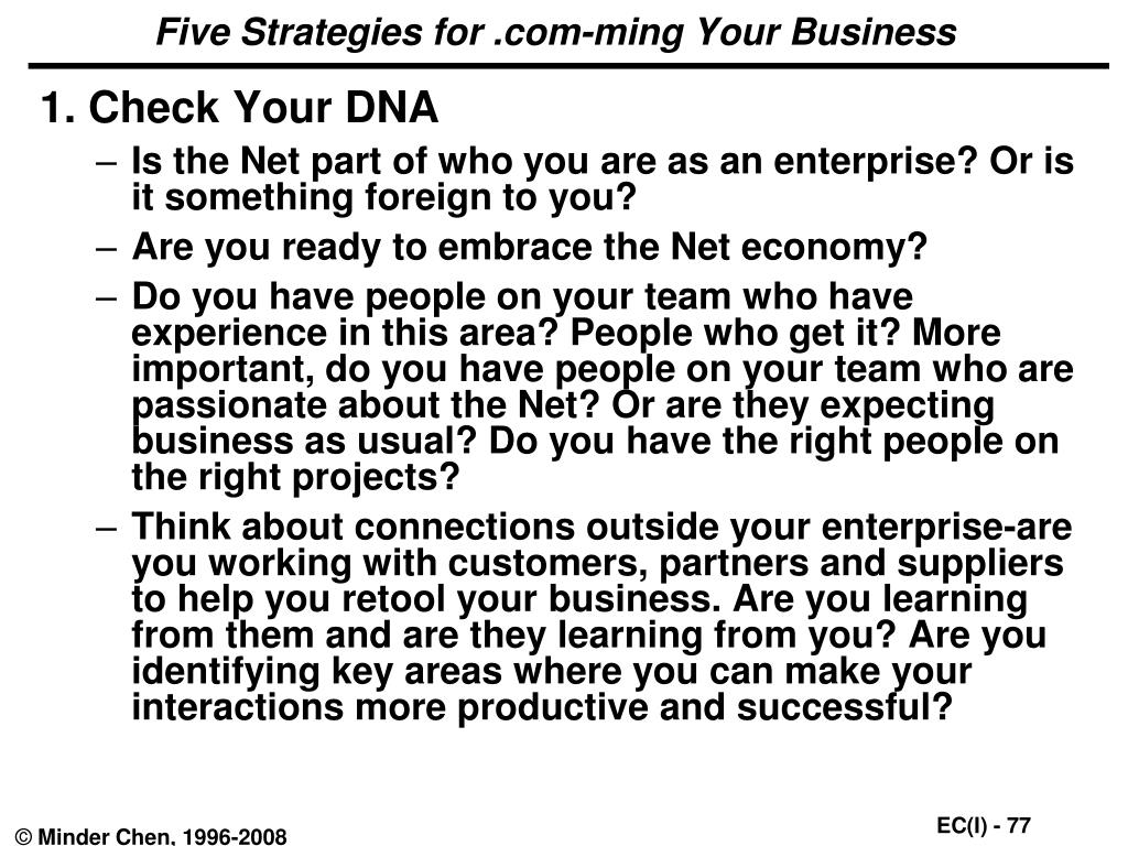 Five Strategies for .com-ming Your Business