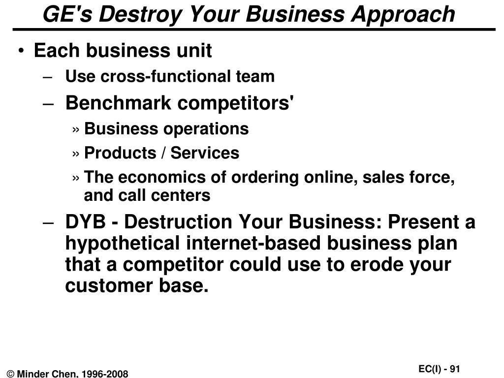 GE's Destroy Your Business Approach