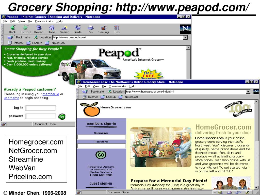 Grocery Shopping: http://www.peapod.com/