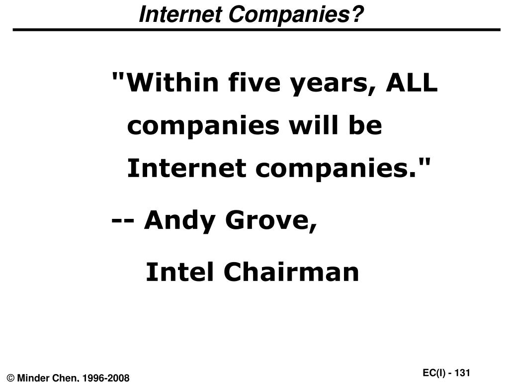 Internet Companies?