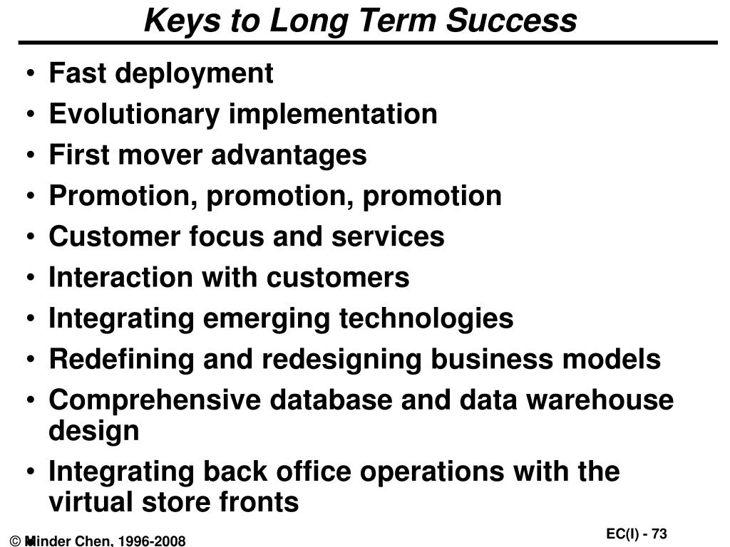 Keys to Long Term Success