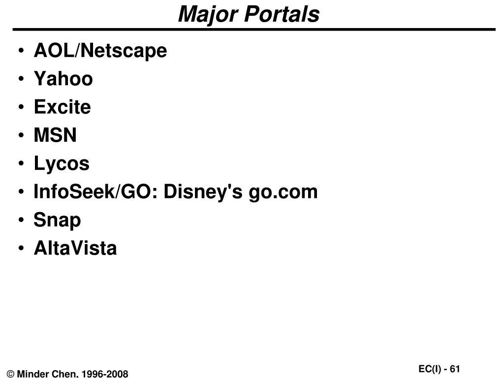 Major Portals
