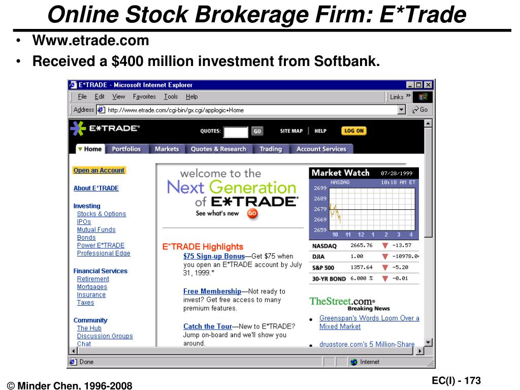 Online Stock Brokerage Firm: E*Trade