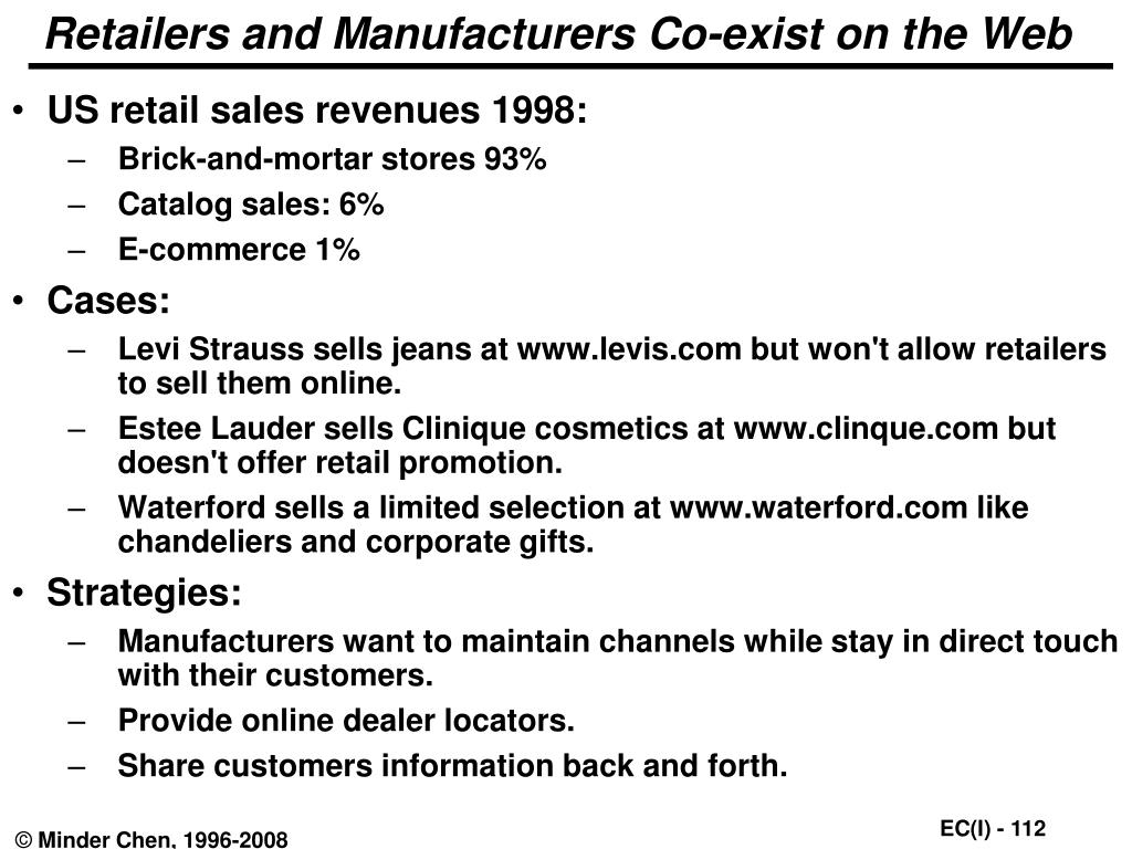 Retailers and Manufacturers Co-exist on the Web