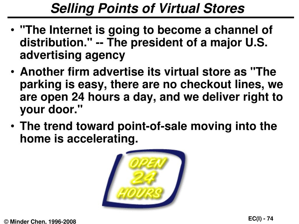 Selling Points of Virtual Stores