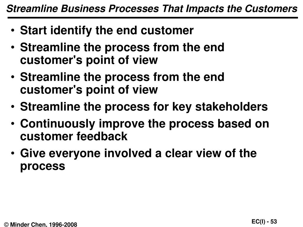 Streamline Business Processes That Impacts the Customers