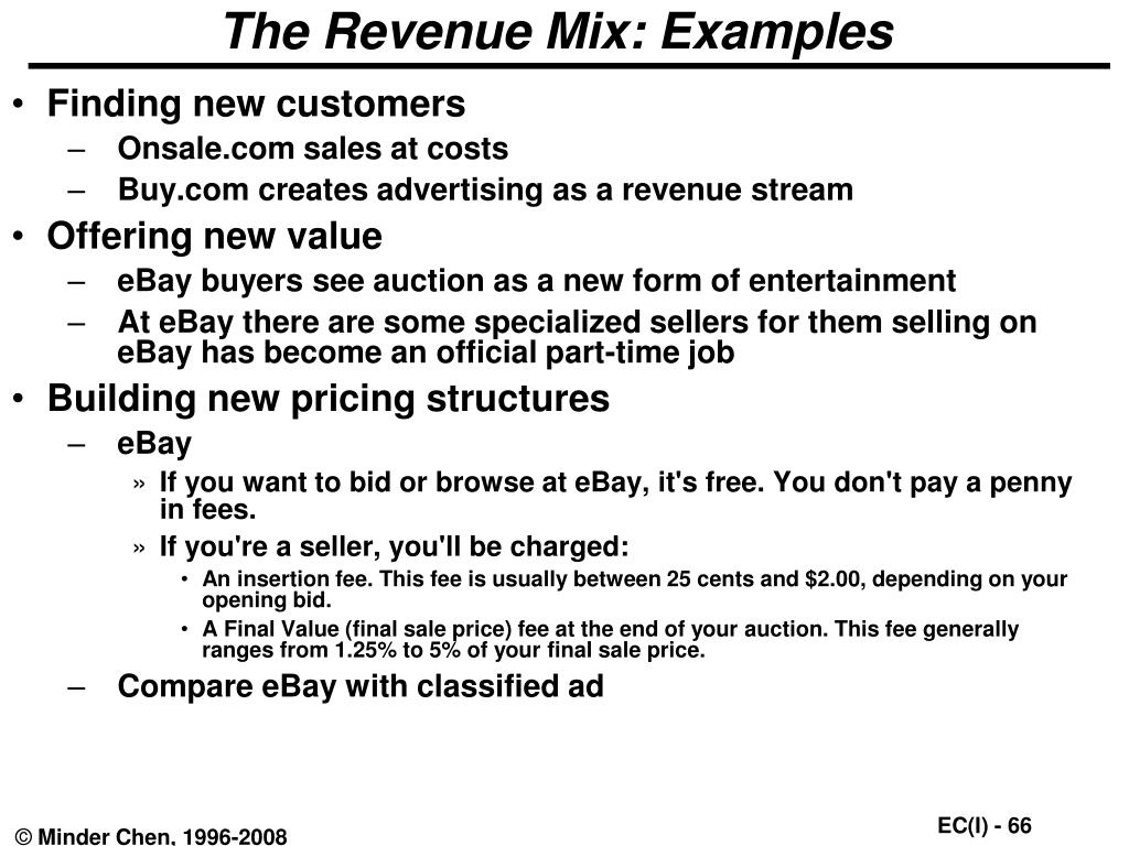 The Revenue Mix: Examples