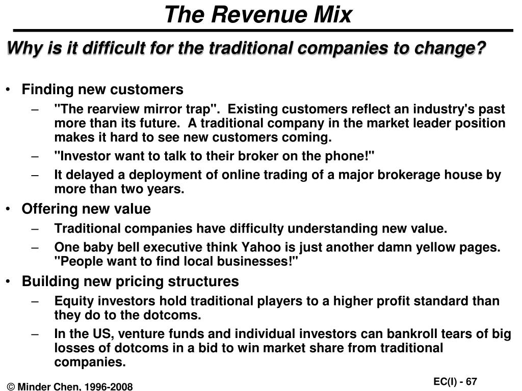 The Revenue Mix
