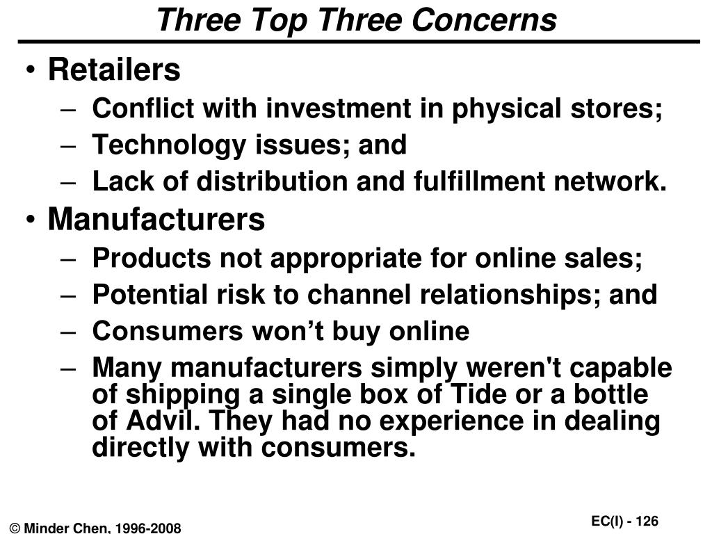 Three Top Three Concerns
