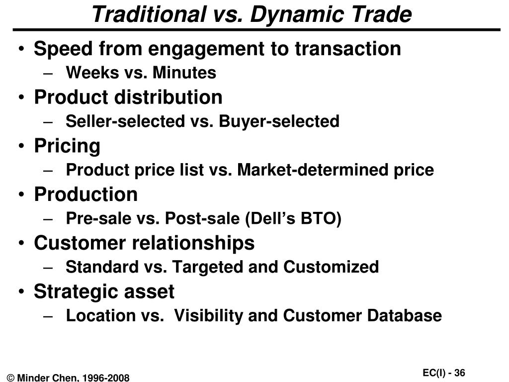 Traditional vs. Dynamic Trade