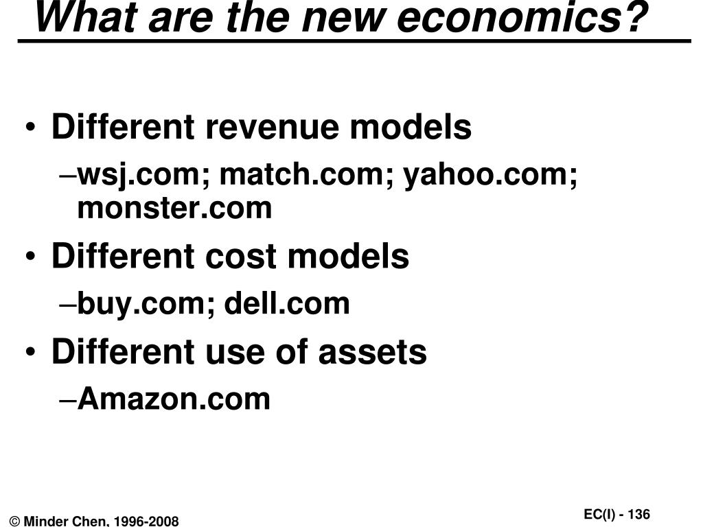 What are the new economics?