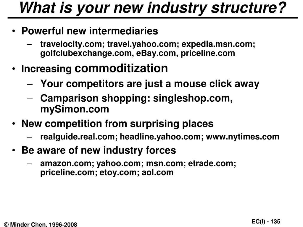 What is your new industry structure?