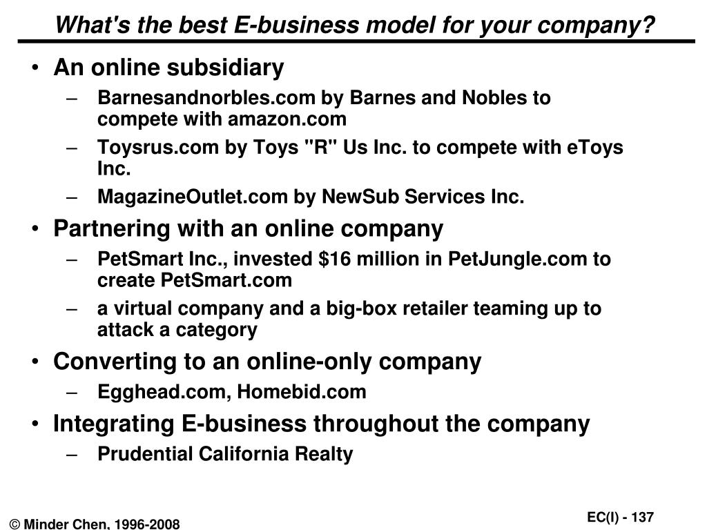 What's the best E-business model for your company?