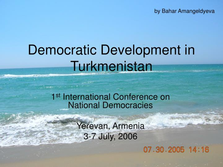 Democratic development in turkmenistan