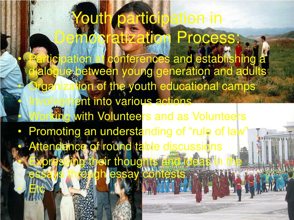 Youth participation in Democratization Process: