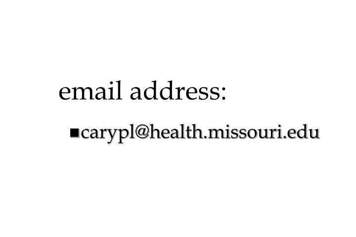 email address: