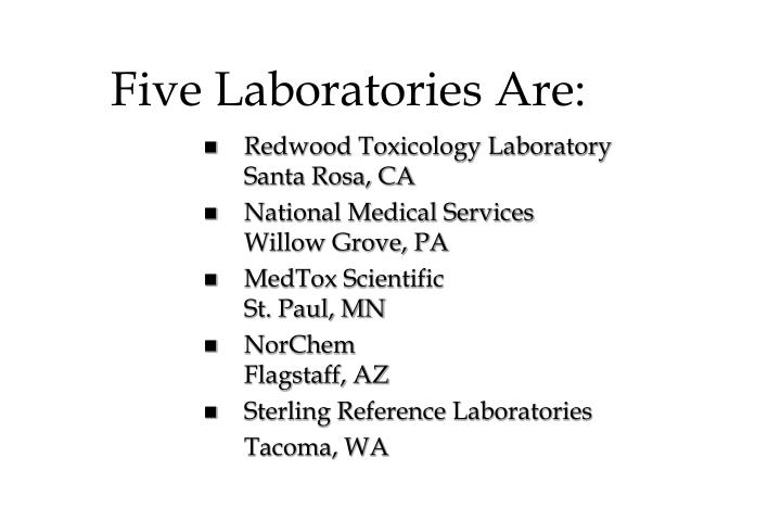 Five Laboratories Are: