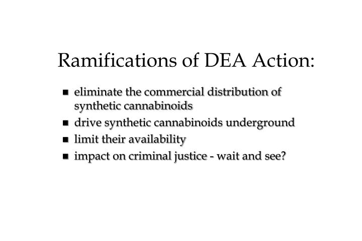 Ramifications of DEA Action: