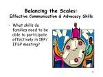 balancing the scales effective communication advocacy skills
