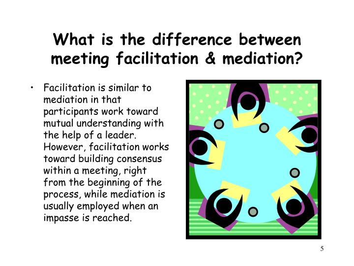 What is the difference between meeting facilitation & mediation?