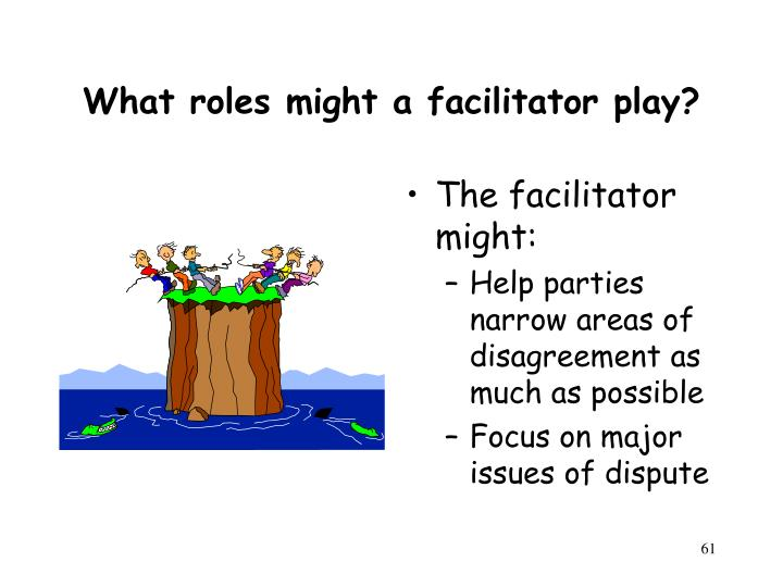 What roles might a facilitator play?