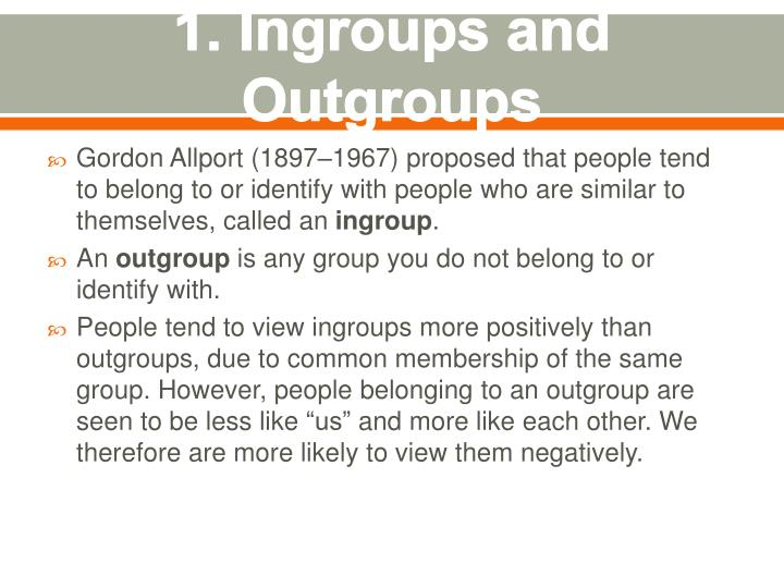 1 ingroups and outgroups