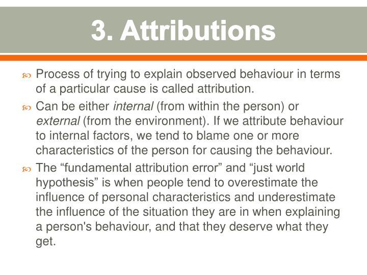 3. Attributions
