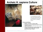 archaic h sapiens culture